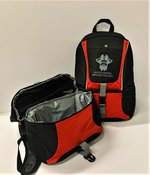 BACKPACK MYRON COOLER BLACK WITH RED