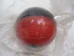 BALL BASKETBALL BLK RED FOAM 4IN PIRATE