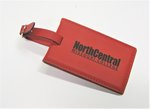 LUGGAGE TAG VELOUR NORTH CENTRAL RED