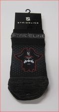 SOCK STRIDELINE BLK NO SHOW 4.1