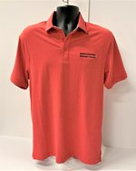 POLO UA CHARGED COTTON MENS SHIRT HEATHERD RED