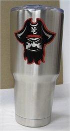 CUP TUMBLER SILVER 30OZ PIRATE HEAD
