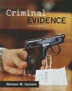 CRIMINAL EVIDENCE (P)