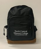 BACKPACK NCMC BLACK LEATHER BOTTOM