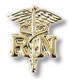 NURSING PIN CADUCEUS RN 2 PK