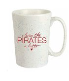 CUP COFFEE I LOVE THE PIRATES A LATTE