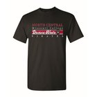 TSHIRT DANCE WAVE RED MIDDLE STRIP