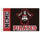 FLAG NCMC PIRATE BLACK OUTDOOR W BRASS GROMMENTS 3 X 5