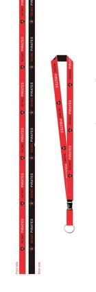 LANYARD NCMC PIRATES DETACHABLE THREE COLOR EFFECT