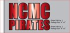 DECAL INSIDE RED NCMC PIRATES