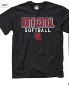 TSHIRT BLOCK SOFTBALL BLACK