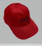 HAT CH RED WITH BLACK STITCHING ADJUSTABLE VELCO
